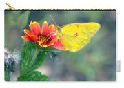 Clouded Sulphur Butterfly Square Carry-all Pouch