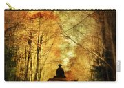 Coach On A Road In Autumn Carry-all Pouch