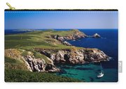 Coastal Cliffs And Seascape With Boat Carry-all Pouch