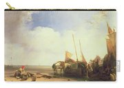 Coastal Scene In Picardy Carry-all Pouch by Richard Parkes Bonington