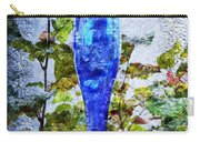 Cobalt Blue Bottle Triptych 1 Of 3 Carry-all Pouch by Andee Design
