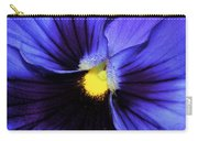 Cobalt Blue Pansy Carry-all Pouch