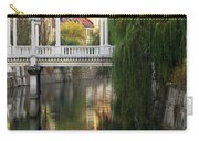 Cobblers Bridge And Morning Reflections In Ljubljana Carry-all Pouch by Greg Matchick