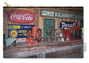 Coca Cola - Rexall - Ok Used Tires Signs And Other Antiques Carry-all Pouch