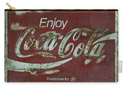 Coca Cola Green Red Grunge Sign Carry-all Pouch