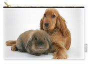Cocker Spaniel And Rabbit Carry-all Pouch