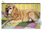 Cocker Spaniel On Quilt Carry-all Pouch