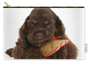 Cocker Spaniel Pup With Chew Treat Carry-all Pouch