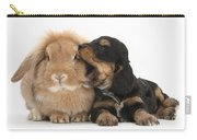 Cockerpoo Pup And Lionhead-lop Rabbit Carry-all Pouch