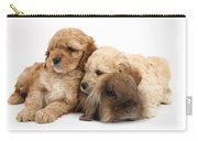Cockerpoo Puppies And Rabbit Carry-all Pouch