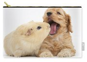 Cockerpoo Puppy And Guinea Pig Carry-all Pouch