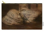 Coffee Beans In Burlap Bags Carry-all Pouch by Susan Candelario