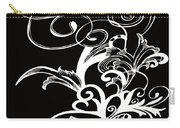 Coffee Flowers 1 Bw Carry-all Pouch