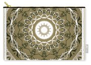 Coffee Flowers 1 Olive Medallion Scrapbook Carry-all Pouch
