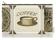 Coffee Flowers 1 Olive Scrapbook Triptych Carry-all Pouch