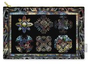 Coffee Flowers Ornate Medallions 6 Piece Collage Aurora Borealis Carry-all Pouch