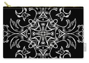 Coffee Flowers Ornate Medallions Bw Vertical Tryptych 1 Carry-all Pouch