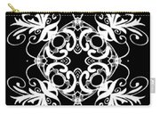 Coffee Flowers Ornate Medallions Bw Vertical Tryptych 2 Carry-all Pouch