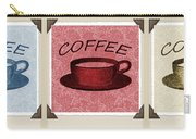 Coffee Flowers Scrapbook Triptych 2 Carry-all Pouch