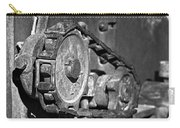 Cog And Chain In Rust Black And White Carry-all Pouch