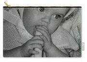 Colette 1 Year Old With 3 Eye Opend Carry-all Pouch
