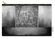 Collage Misty Trees Carry-all Pouch
