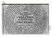 Collation Ticket, 1824 Carry-all Pouch