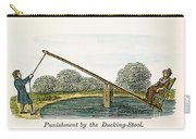 Colonial Ducking Stool Carry-all Pouch