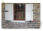Colonial Shutters Window Frame Stone Wall Wood Box Carry-all Pouch