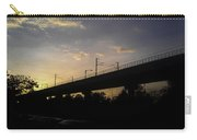 Color Of Sunset Over Metro Pillar In Delhi Carry-all Pouch