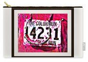 Color Run Number Carry-all Pouch