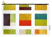Color Study Abstract Collage Carry-all Pouch by Michelle Calkins