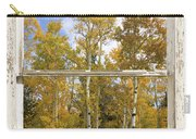 Colorado Autumn Aspens Picture Window View Carry-all Pouch