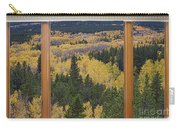 Colorado Autumn Picture Window Frame Art Photos Carry-all Pouch