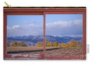 Colorado Country Red Rustic Picture Window Frame Photo Art Carry-all Pouch