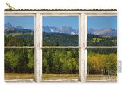Colorado Indian Peaks Autumn Rustic Window View Carry-all Pouch by James BO  Insogna
