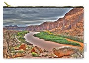 Colorado River Flows Through A Stormy Moab Portal Carry-all Pouch
