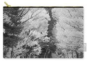 Colorado Rocky Mountain Aspen Road Portrait Bw Carry-all Pouch