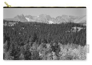 Colorado Rocky Mountain Continental Divide View Bw Carry-all Pouch