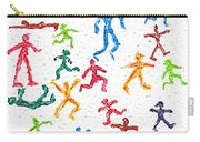 Colorful Acrylic Stickmen Characters Carry-all Pouch