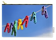 Colorful Clothes Pins Carry-all Pouch