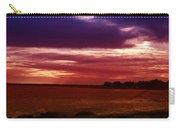 Colorful Clouds Over Ocean At Sunset Carry-all Pouch