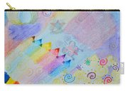 Colorful Doodling Original Art Carry-all Pouch