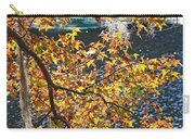 Colorful Fall Leaves Over Blue Water Carry-all Pouch