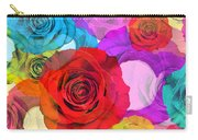 Colorful Floral Design  Carry-all Pouch