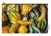 Colorful Gourds In Basket Carry-all Pouch