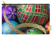 Colorful Ornaments With Ribbon Carry-all Pouch