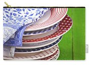 Colorful Plates Carry-all Pouch