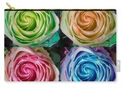 Colorful Rose Spirals Carry-all Pouch