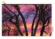 Colorful Silhouetted Trees 33 Carry-all Pouch